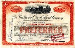 The Baltimore And Ohio Railroad Company - Chemin De Fer & Tramway