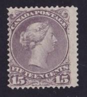 Canada 1868 Queen Victoria 15c Deep Reddish-purple Used  SG 61 - Tear - 1851-1902 Reign Of Victoria