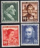 PRO JUVENTUTE 1941 ** / MNH Série Complète SBK 7,50 à 25 % - Pro Juventute