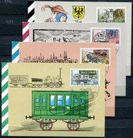 """DDR1990 Maxicard,MC Mi.Nr.3354/57 """"500 Jahre Post,Internationale Postverbindungen""""mit ESST Berlin"""" 4 MK - Post"""