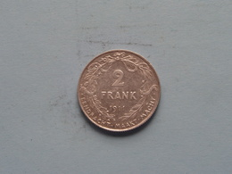 1911 (VL) - 2 Frank / KM 75 Silver / Zilver XF ( Uncleaned Coin / For Grade, Please See Photo ) !! - 1909-1934: Albert I