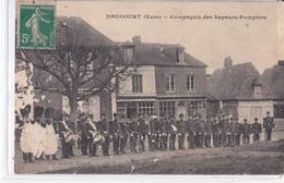 CPA - DRUCOURT -  COMPAGNIE DES SAPEURS POMPIERS - Francia
