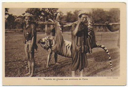 Cpa Bon Etat  , Nord- Vietnam , Tonkin  Trophée De Chasse Aux Environs De Cana, Carte Rare - Viêt-Nam