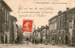(66) CPA  Lezat Sur Leze  Boulevard Des Coureges (Bon Etat  ) - Lezat Sur Leze