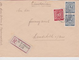 ALLEMAGNE 1947 ZONE AAS LETTRE RECOMMANDEE DE NIEDERAICHBACH - American,British And Russian Zone