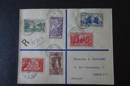 LETTRE En Recommandée.de ST PIERRE MIQUELON  Affranchie  Avec La  Série De 1937 . - 1937 Exposition Internationale De Paris