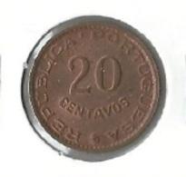 Angola - 20 Centavos ($20) 1962 - UNC - Angola