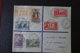 LETTRE En Recommandée.de DJIBOUTI  Affranchie  Avec La  Série De 1937 . - 1937 Exposition Internationale De Paris
