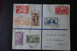 LETTRE En Recommandée.de BONABERI CAMEROUN  Affranchie  Avec La  Série De 1937 . - 1937 Exposition Internationale De Paris
