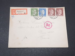 ALLEMAGNE - Enveloppe En Recommandé De Hannover Pour La France En 1943, Affranchissement Plaisant - L 17170 - Allemagne