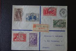 LETTRE En Recommandée.de POINTE NOIRE AEF Affranchie  Avec La  Série De 1937 . - 1937 Exposition Internationale De Paris