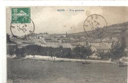 AUPS  . VUE GENERALE . AFFR LE 13-6-1923 SUR RECTO - Aups