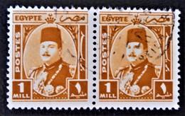 ROYAUME - EFFIGIE DU ROI FAROUK 1944/46 - PAIRE OBLITEREE - YT 223 - MI 26 - Egypt
