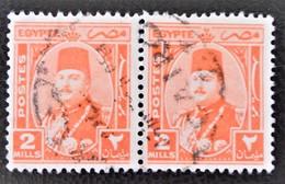 ROYAUME - EFFIGIE DU ROI FAROUK 1944/46 - PAIRE OBLITEREE - YT 223 - MI 267 - Egypt
