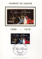 """FRANCE 1980 """" GENERAL DE GAULLE """" Sur Carte Maximum En Soie. N° YT 2114. Parfait état CM - De Gaulle (General)"""