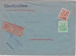 ALLEMAGNE 1947 ZONE AAS  LETTRE RECOMMANDEE DE HERRSCHING AVEC CACHET ARRIVEE GERA - American,British And Russian Zone