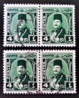 ROYAUME - EFFIGIE DU ROI FAROUK 1944/46 - 2 PAIRES OBLITEREES - YT 226 - MI 271 - Egypt