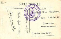 """Cachet Transport """" YUCCA """" Transit Maritime Militaire Sur Cpa Malo Les Bains 1919 - Marcophilie (Lettres)"""
