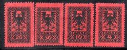 163 - 490 - ALBANIA 1922 , Segnatasse Serie Yvert N. 18/21  *** - Albania