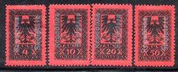 164 - 490 - ALBANIA 1925 , Segnatasse Serie Yvert N. 22/25  *  Soprastampati - Albania