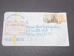 ANGOLA - Enveloppe Commerciale De Luanda Pour Les U.S.A. En 1947 , Affranchissement Plaisant Tricolore - L 17176 - Angola