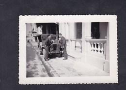 Photo Originale Indochine Cochinchine Tonkin Gendarme Gendarmerie Prevote Jeep Willys - Guerre, Militaire
