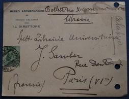 Carte Commerciale CALABRE Pour PARIS. 1925 - 1900-44 Vittorio Emanuele III