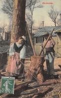 Bûcherons - Scènes Champêtres Paysans - Agriculture