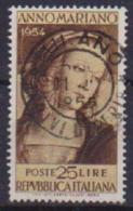 ITALIA 1954 ANNO MARIANO SASS. 751 USATO VF - 1946-.. République
