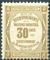 France Taxe (1908) N 46 ** (Luxe) - Taxes