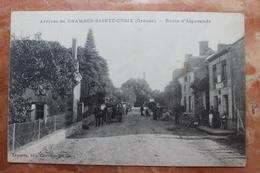 ARRIVEE DE CHAMBON SAINTE CROIX (23) - ROUTE D'AIGURANDE - Chambon Sur Voueize