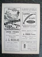 PUBBLICITA'/PUBLICITE' PHARE GREBEL,CAPOTE,SUSPENSION  Da Rivista AUTO CARRROSSERIE 1927 - Cars