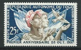 TOGO 1957 . Poste Aérienne N° 24 . Neuf ** (MNH) - Togo (1960-...)