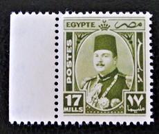 ROYAUME - EFFIGIE DU ROI FAROUK 1944/46 - NEUF ** - YT 230 - MI 275 - BORD - Egypt