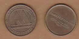 AC - METRO - TRANSPORTATION TOKEN RUSSIA METRO SUBWAY UNDERGROUND BRASS TOKEN 20 MM - Monetary /of Necessity