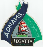 ADNAMS BREWERY (SOUTHWOLD, ENGLAND) - REGATTA - CURVED PUMP CLIP FRONT - Signs