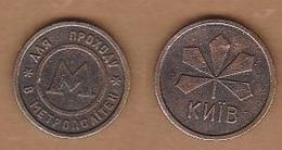 AC - METRO - TRANSPORTATION TOKEN RUSSIA METRO SUBWAY UNDERGROUND BRASS TOKEN 20 MM - Noodgeld