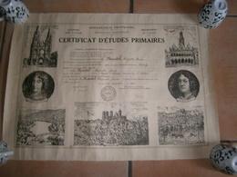 ANCIEN CERTIFICAT D ETUDES SCOLAIRES ANNEE 1940 ACADEMIE DE LIILE  DEPARTEMENT DE L AISNE - Diplômes & Bulletins Scolaires