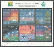 Palau 1991 Yvert 496-519, Genesis, Creation Of The World - United Nations - Full Sheetlet - MNH - Palau