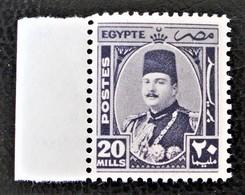 ROYAUME - EFFIGIE DU ROI FAROUK 1944/46 - NEUF ** - YT 231 - MI 276 - BORD DE FEUILLE - Egypt