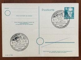 K5 SBZ Ganzsache Stationery Entier Postal P 35/05 Mit Sst. Altenberg Wintersportmeisterschaften - Sowjetische Zone (SBZ)