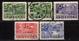 SCHWEDEN 1935 - MiNr: 221 - 226 Lot 5x  Used - Schweden