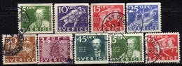 SCHWEDEN 1936 - MiNr: 227-238 Lot 9x  Used - Schweden