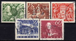 SCHWEDEN 1938 - MiNr: 245-249 Komplett  Used - Schweden