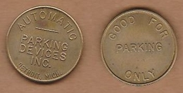 AC - AUTOMATIC PARKING DEVICES INC DETROIT MICH TOKEN JOKEN - Monetary /of Necessity