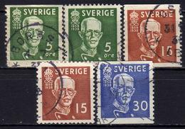 SCHWEDEN 1938 - MiNr: 250-252  Used - Schweden