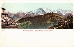 SUISSE - Schynige Platte - Eiger, Mönch Und Jungfrau - Précurseur - Très Bon état - Belle Carte - BE Berne