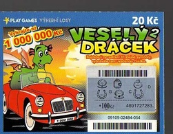 8-434 CZECH REPUBLIC -2017 - Play Games - Vesely Dracek - Merry Little Dragon A Scratchcard  A Scratch Off, Scratch Tick - Lotterielose
