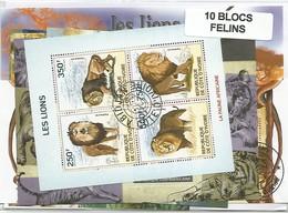 """Lot De Blocs Thematique """" Felins """" - Timbres"""