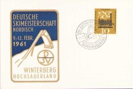Carte Postale Timbre Poste 218 Du 11 Février 1961 Winterberg Hochsauerland - Autres